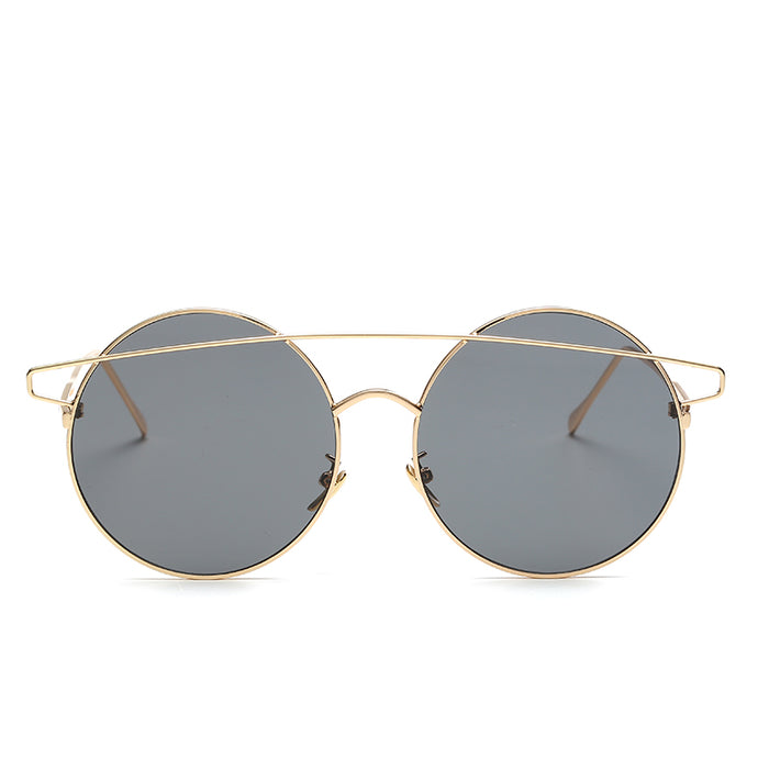 badtemper New Designer Round Sunglasses Fashion Unique Strange Female Sunglasses Vintage Mirror metal frame Sun glasses