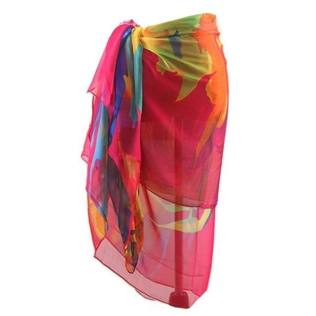 Beach Dress Women Bohemia Chiffon Swimwear Pareo Scarf Beach Cover Up Wrap Kaftan Sarong Bikini-Cover-up-poor baby store Store-J-One Size-EpicWorldStore.com