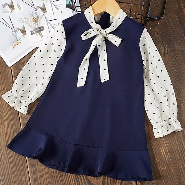 Bear Leader Girls Dress 2020 New Spring Casual Ruffles A Line Striped Full Sleeve Kids Dress For-Dresses-Bear Leader official store-AH003-3T-EpicWorldStore.com