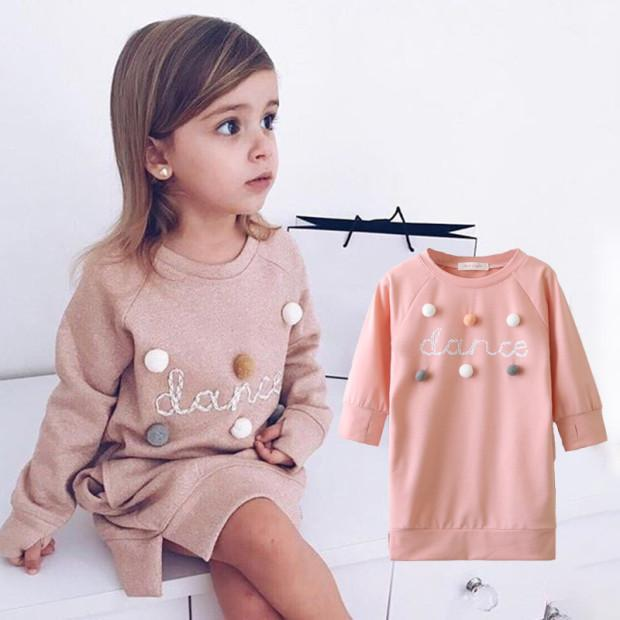 Bear Leader Girls Dress 2020 New Spring Casual Ruffles A Line Striped Full Sleeve Kids Dress For-Dresses-Bear Leader official store-Pink AZ1808-3T-EpicWorldStore.com
