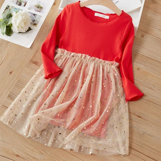 Bear Leader Girls Dress 2020 New Spring Casual Ruffles A Line Striped Full Sleeve Kids Dress For-Dresses-Bear Leader official store-Red AY459-3T-EpicWorldStore.com