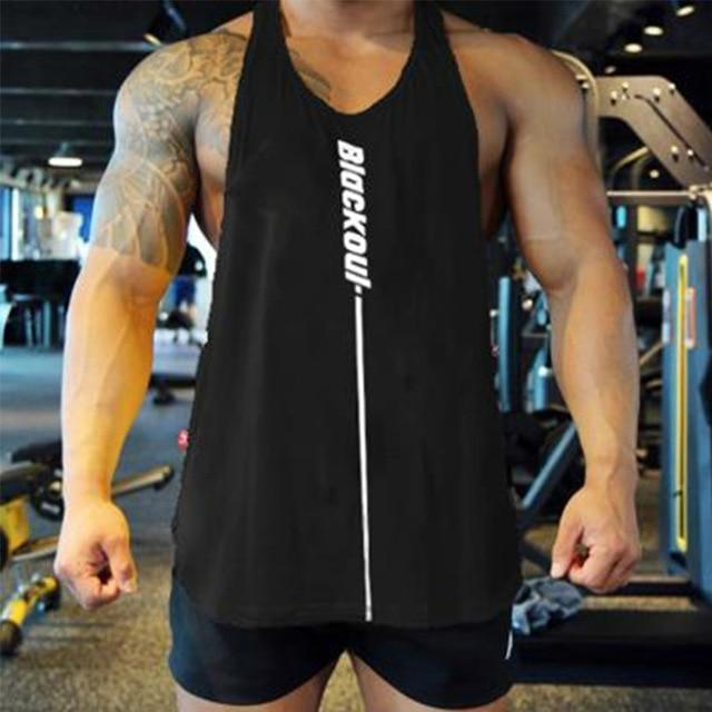 Bodybuilding Tank Tops Men Gym Workout Fitness Sleeveless Shirt Male Summer Cotton Undershirt Casual-Home-Shop4720021 Store-black-M-EpicWorldStore.com