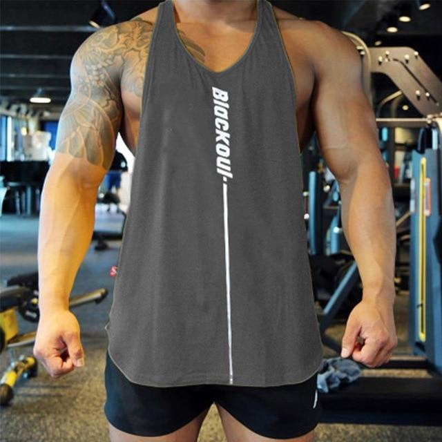 Bodybuilding Tank Tops Men Gym Workout Fitness Sleeveless Shirt Male Summer Cotton Undershirt Casual-Home-Shop4720021 Store-Dark grey-M-EpicWorldStore.com
