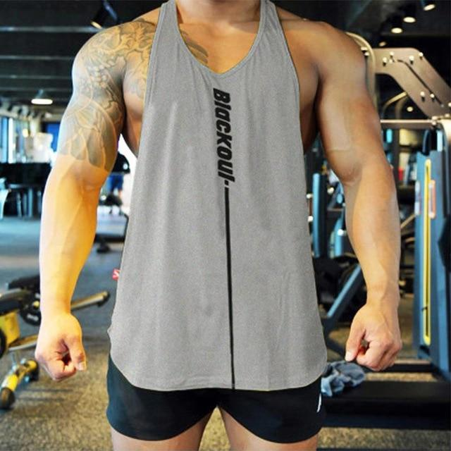 Bodybuilding Tank Tops Men Gym Workout Fitness Sleeveless Shirt Male Summer Cotton Undershirt Casual-Home-Shop4720021 Store-gray-M-EpicWorldStore.com