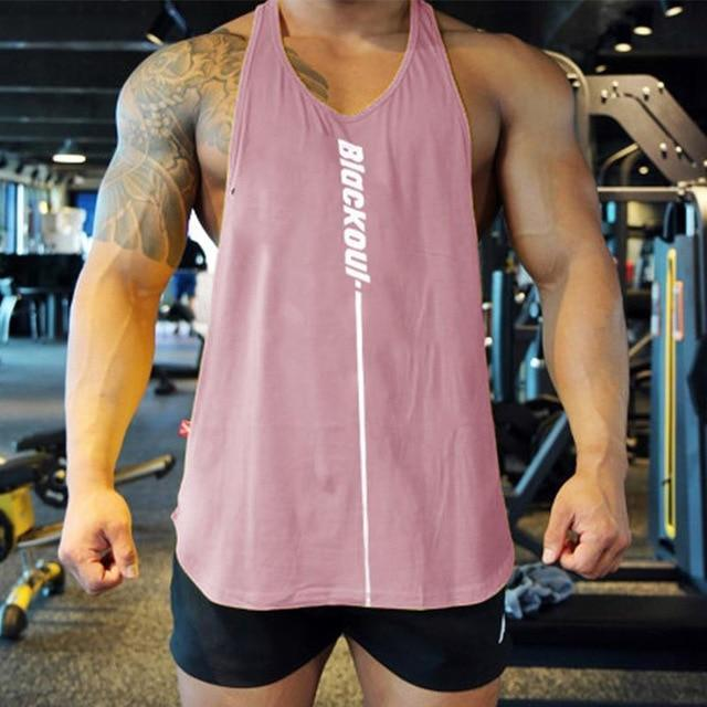 Bodybuilding Tank Tops Men Gym Workout Fitness Sleeveless Shirt Male Summer Cotton Undershirt Casual-Home-Shop4720021 Store-pink-M-EpicWorldStore.com