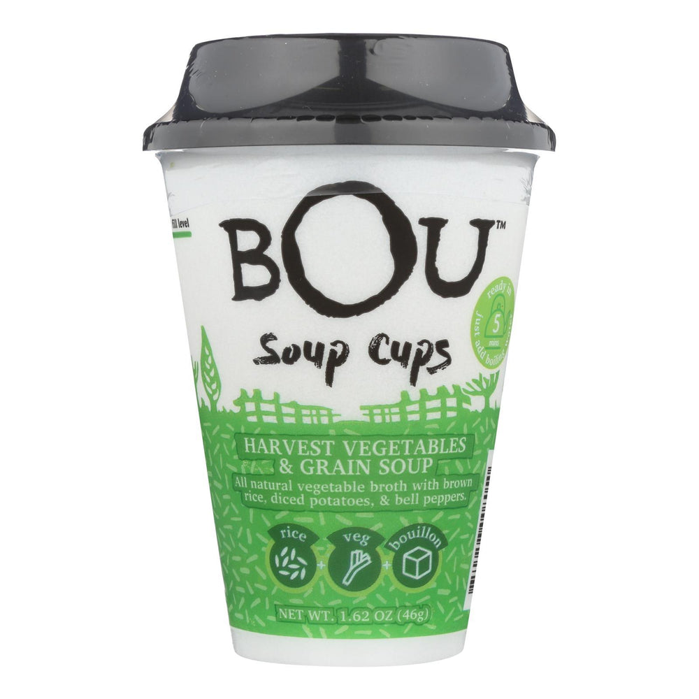 Bou - Soup Cup - Harvest Vegetables And Grain Soup - Case Of 6 - 1.58 Oz.-Eco-Friendly Home & Grocery-Bou-EpicWorldStore.com