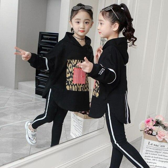 Boutique Kids Clothing Autumn Spring Girls Set Long Sleeve Tops +Pants 2Pieces Tracksuit Children-Clothing Sets-lisujie Store-black-4-EpicWorldStore.com