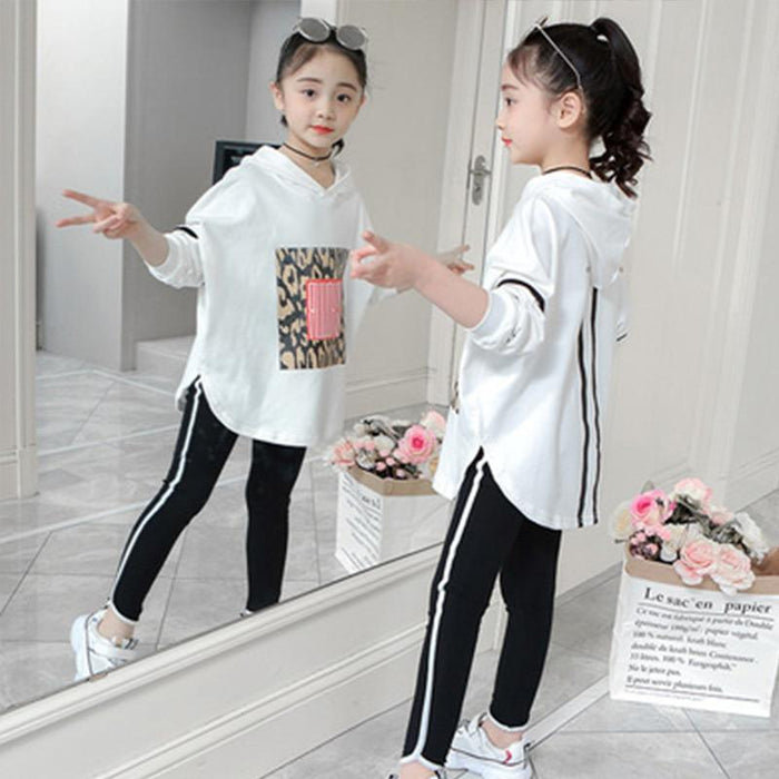 Boutique Kids Clothing Autumn Spring Girls Set Long Sleeve Tops +Pants 2Pieces Tracksuit Children-Clothing Sets-lisujie Store-white-4-EpicWorldStore.com