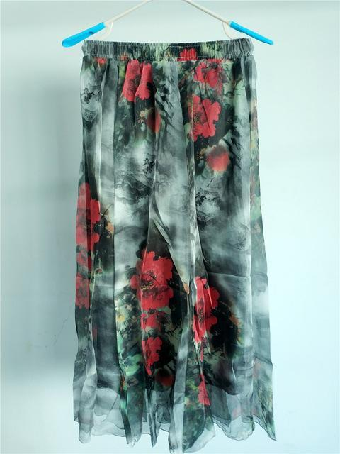 Brand Long Skirt Print Light Fabric Chiffon Summer Clothes Saia Beach Bohemian Maxi Skirts Women-Skirts-Embroidery Clothes Factory Store-Style Seventeen-One Size-EpicWorldStore.com