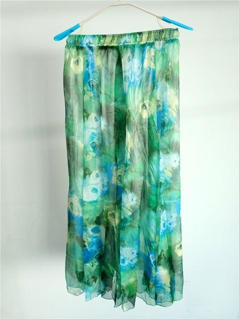 Brand Long Skirt Print Light Fabric Chiffon Summer Clothes Saia Beach Bohemian Maxi Skirts Women-Skirts-Embroidery Clothes Factory Store-Style Three-One Size-EpicWorldStore.com