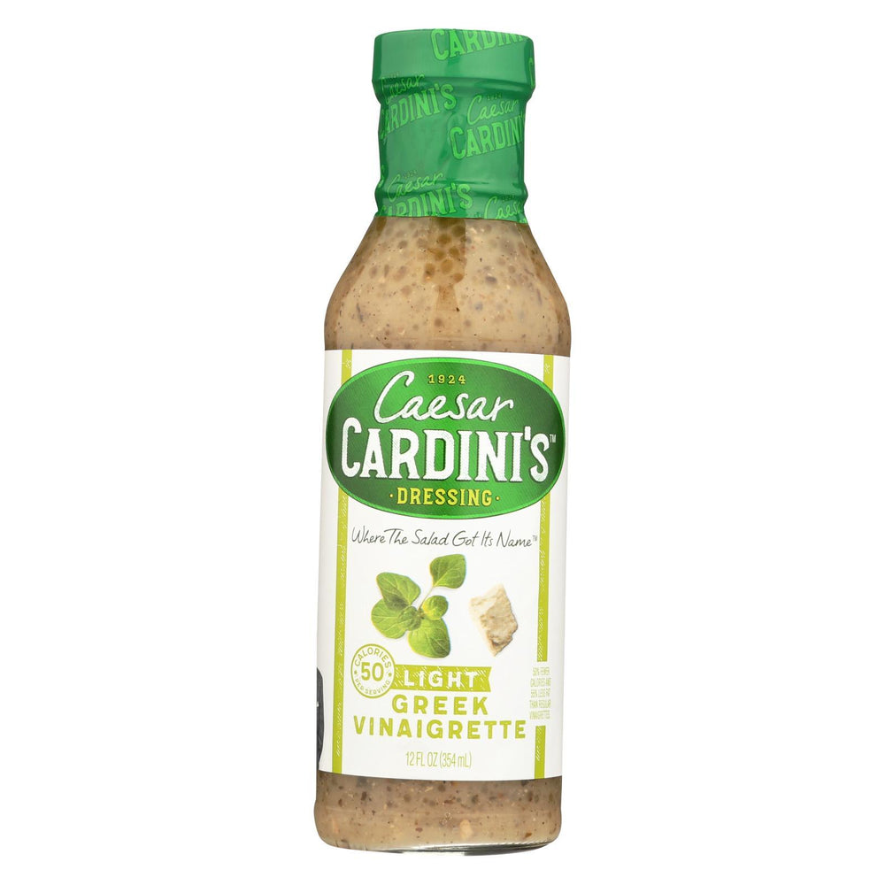 Cardini'S Dressing - Light Greek Vinaigrette - Case Of 6 - 12 Fl Oz-Eco-Friendly Home & Grocery-Cardini's-EpicWorldStore.com