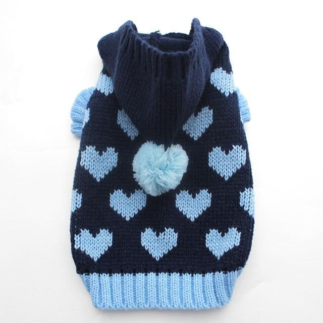Cat Dog Sweater Hoodie Loves Jumper Jersey Pet Puppy Coat Jacket Warm Clothes For Dogs Cats Small-Dog Sweaters-YiWu SKS Pet Products Co.,Ltd Store-Navy Blue-XS-EpicWorldStore.com