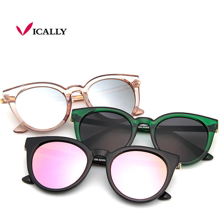 cat eye pink sunglasses woman shades mirror female square sun glasses for women coating oculos fashion brand sunglasses