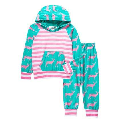Children Clothing 2020 Spring Toddler Girl Clothes Coat+T Shirt+Jeans 3Pcs Outfit Kids Clothes-Clothing Sets-LZH Official Store-Green-2T-EpicWorldStore.com