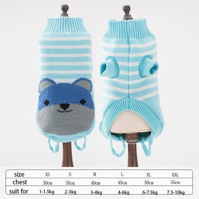 Cute Animal Winter Dress For Dog Pet Dog Clothes Medium Sweater Dog Puppy Clothing Autumn Fashion-Home-Daily Comfort Store-bear-XS-EpicWorldStore.com