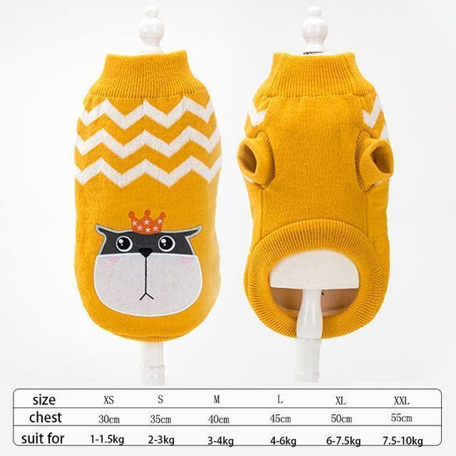Cute Animal Winter Dress For Dog Pet Dog Clothes Medium Sweater Dog Puppy Clothing Autumn Fashion-Home-Daily Comfort Store-cat-XS-EpicWorldStore.com