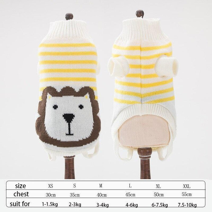 Cute Animal Winter Dress For Dog Pet Dog Clothes Medium Sweater Dog Puppy Clothing Autumn Fashion-Home-Daily Comfort Store-lion-XS-EpicWorldStore.com