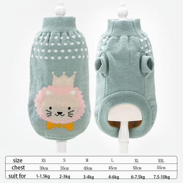 Cute Animal Winter Dress For Dog Pet Dog Clothes Medium Sweater Dog Puppy Clothing Autumn Fashion-Home-Daily Comfort Store-lion2-XS-EpicWorldStore.com