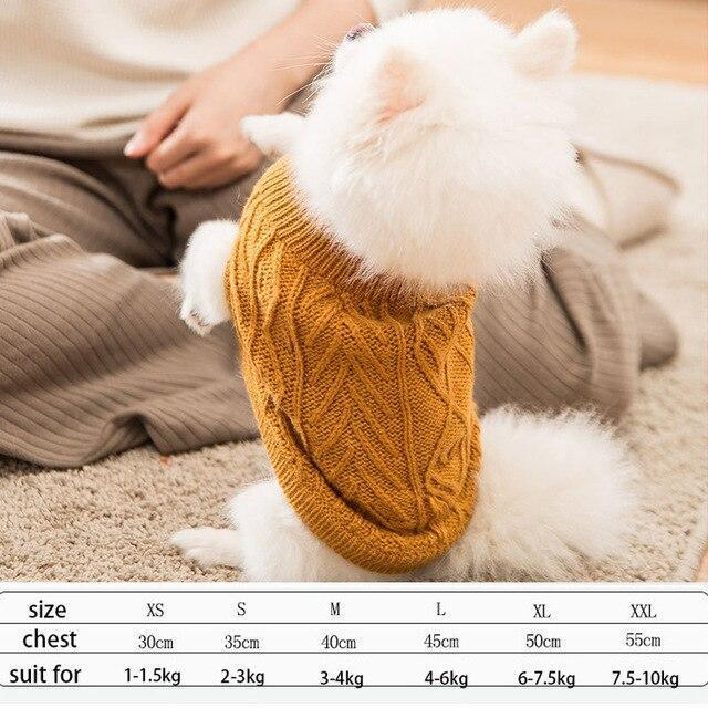 Cute Animal Winter Dress For Dog Pet Dog Clothes Medium Sweater Dog Puppy Clothing Autumn Fashion-Home-Daily Comfort Store-orange-XS-EpicWorldStore.com