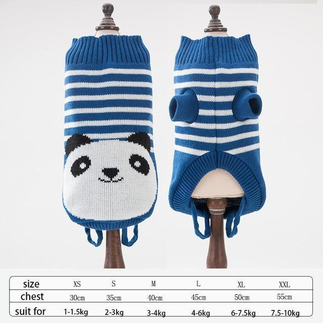 Cute Animal Winter Dress For Dog Pet Dog Clothes Medium Sweater Dog Puppy Clothing Autumn Fashion-Home-Daily Comfort Store-panda-XS-EpicWorldStore.com