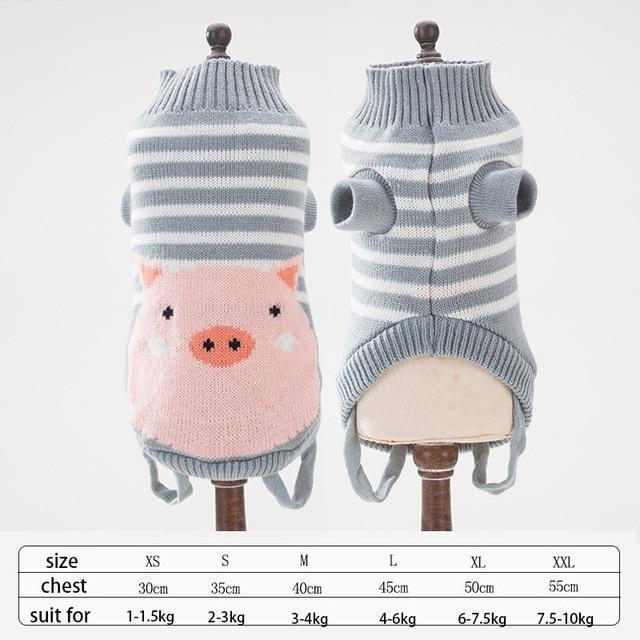 Cute Animal Winter Dress For Dog Pet Dog Clothes Medium Sweater Dog Puppy Clothing Autumn Fashion-Home-Daily Comfort Store-pig-XS-EpicWorldStore.com