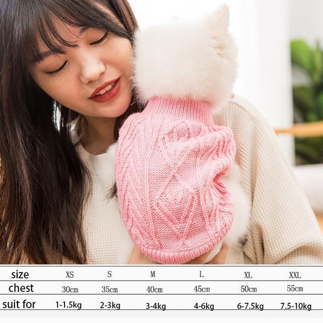 Cute Animal Winter Dress For Dog Pet Dog Clothes Medium Sweater Dog Puppy Clothing Autumn Fashion-Home-Daily Comfort Store-pink-XS-EpicWorldStore.com