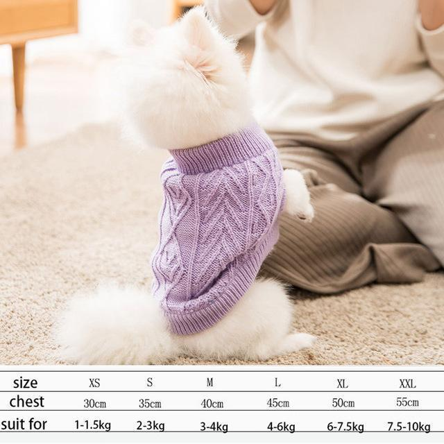 Cute Animal Winter Dress For Dog Pet Dog Clothes Medium Sweater Dog Puppy Clothing Autumn Fashion-Home-Daily Comfort Store-purple-XS-EpicWorldStore.com