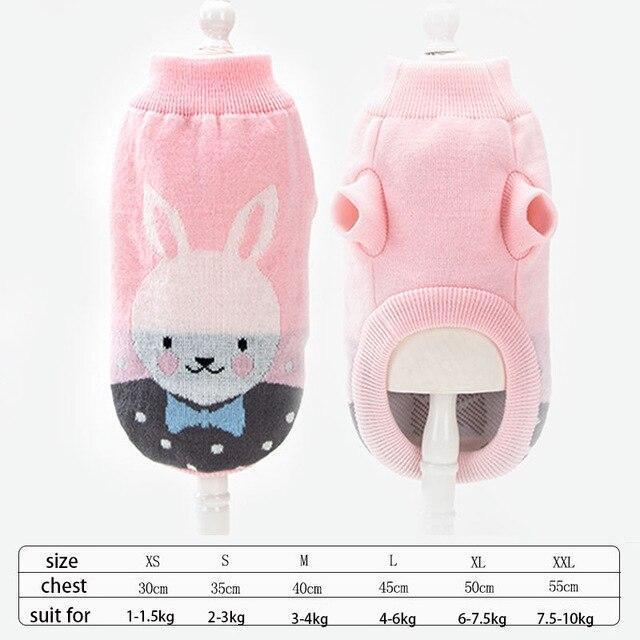 Cute Animal Winter Dress For Dog Pet Dog Clothes Medium Sweater Dog Puppy Clothing Autumn Fashion-Home-Daily Comfort Store-rabbit-XS-EpicWorldStore.com