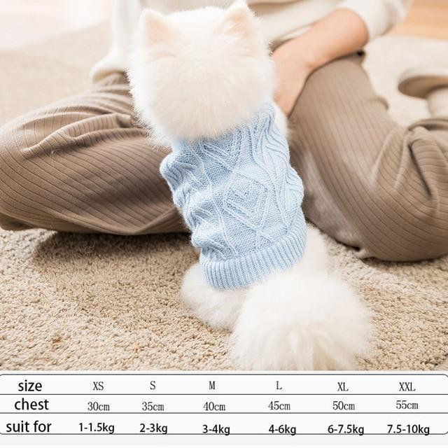 Cute Animal Winter Dress For Dog Pet Dog Clothes Medium Sweater Dog Puppy Clothing Autumn Fashion-Home-Daily Comfort Store-sky blue-XS-EpicWorldStore.com