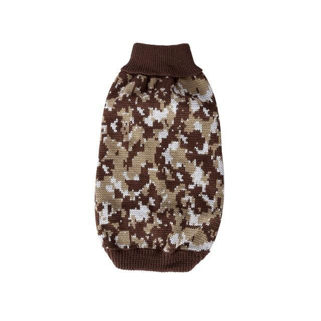 Dog Sweater Autumn Camouflage Lattice Snowflake Pet Clothes For French Bulldog Yorkies Dogs Pets-Home-DIYer Store-Coffee-S-EpicWorldStore.com