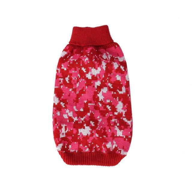 Dog Sweater Autumn Camouflage Lattice Snowflake Pet Clothes For French Bulldog Yorkies Dogs Pets-Home-DIYer Store-Red-S-EpicWorldStore.com