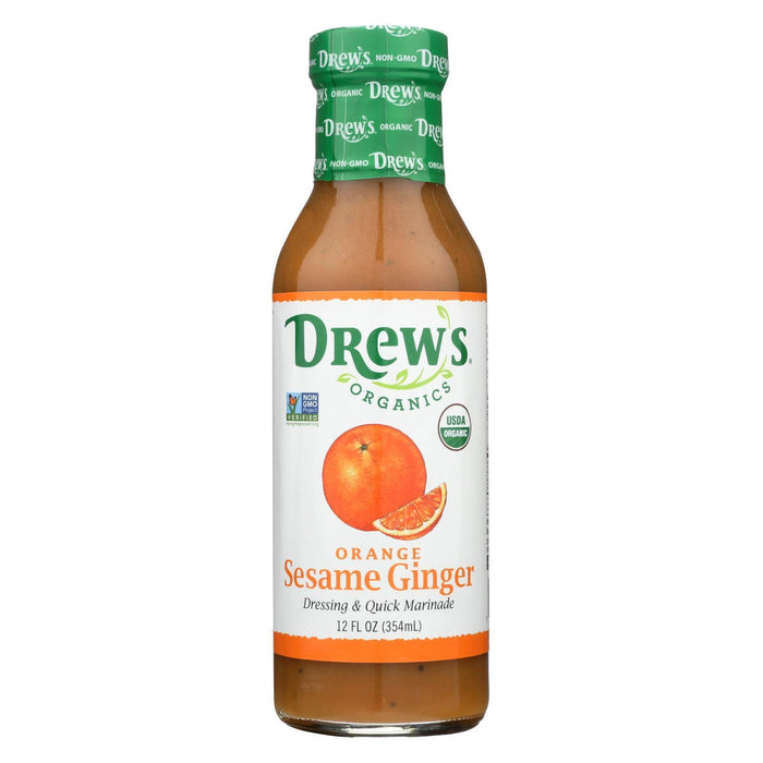 Drew'S Organics Organic Dressing And Quick Marinade - Orange Sesame Ginger - 12 Fl. Oz. - Case Of 6-Eco-Friendly Home & Grocery-Drew's Organics-EpicWorldStore.com