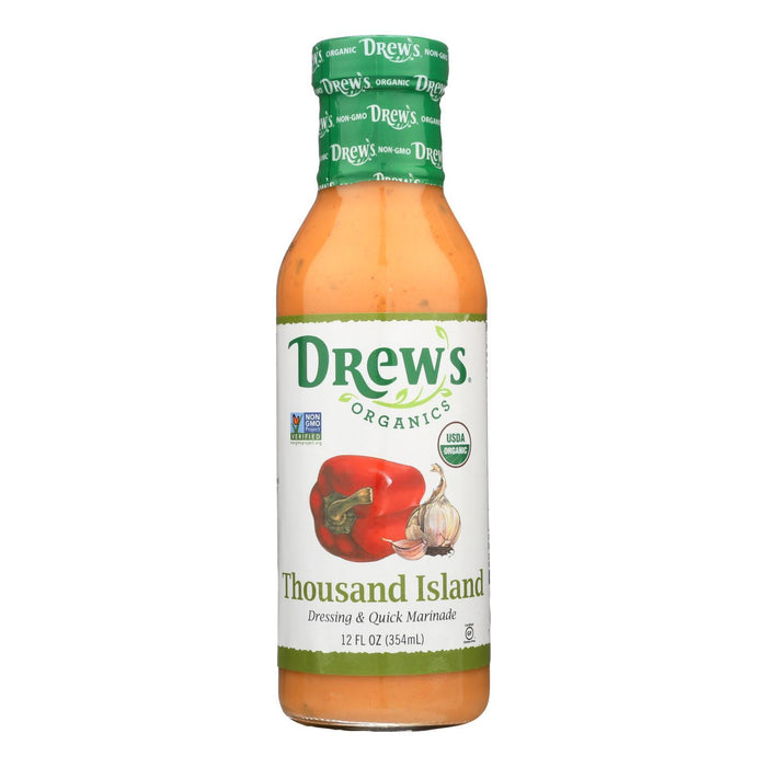 Drew'S Organics Organic Dressing & Quick Marinade, Thousand Island - Case Of 6 - 12 Fz-Eco-Friendly Home & Grocery-Drew's Organics®-EpicWorldStore.com