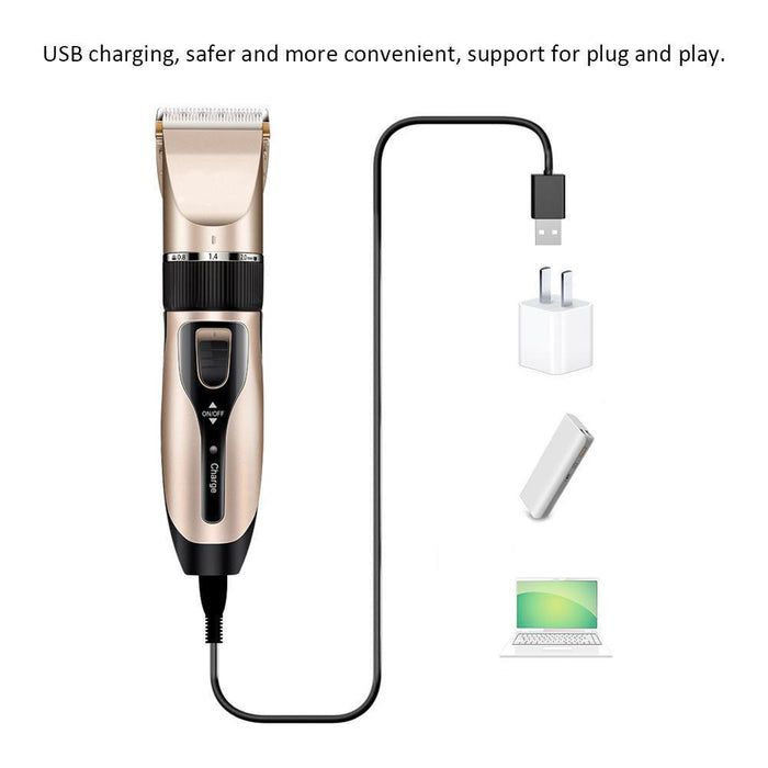Drop Ship Pet Electric Clipper Rechargeable Low Noise Usb Hairdressing Shaving Electric Cat Dog Hair-Home-Happiness Sweetly Store-Black-EpicWorldStore.com
