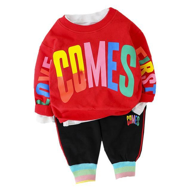 Fashion Baby Boy Clothing Set Letter T Shirt + Pant 2Pcs 2020 New Toddler Boys Spring Autumn Outwear-Clothing Sets-Kabeier Official Store-Red No Shoes-9M-EpicWorldStore.com