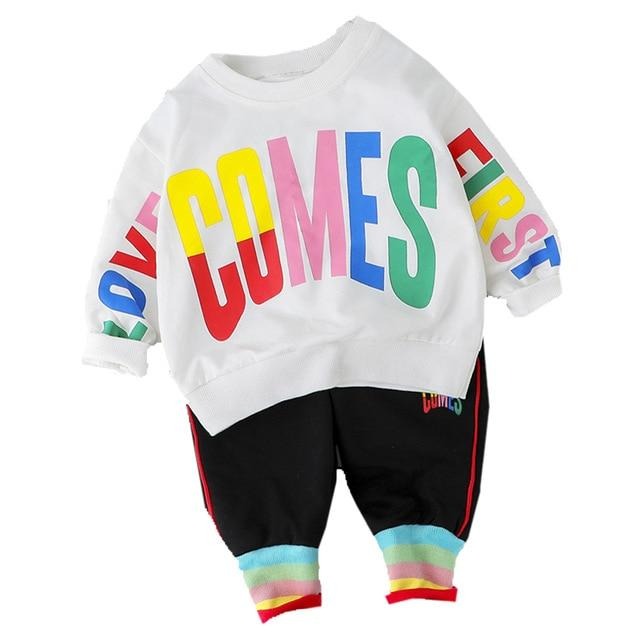 Fashion Baby Boy Clothing Set Letter T Shirt + Pant 2Pcs 2020 New Toddler Boys Spring Autumn Outwear-Clothing Sets-Kabeier Official Store-White No Shoes-9M-EpicWorldStore.com