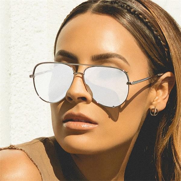 fashion flat top glasses Black gradient women's sunglasses brand designer oculos aviador mirror shades sun glasses female