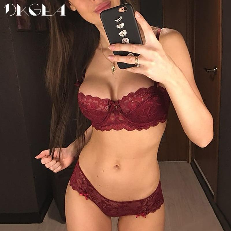 Fashion Sexy Bra Sets Plus Size C D Cup Thin Cotton Underwear Women Set Lace Comfortable Brassiere-Bra & Brief Sets-DKGEA Official Store-Black-70A-EpicWorldStore.com