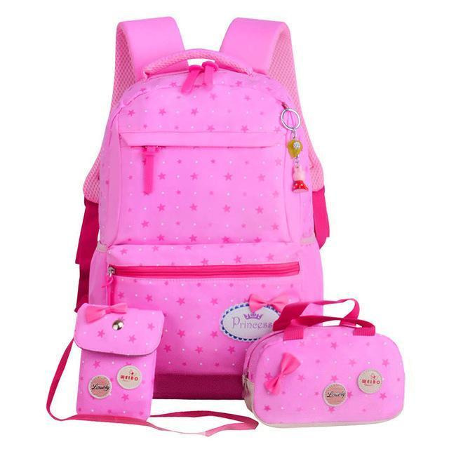 Girl School Bags For Teenagers Backpack Set Women Shoulder Travel Bags 3 Pcs/Set Rucksack Mochila-Kids & Baby's Bags-MOVING BAG-pink-MostlyShades.com