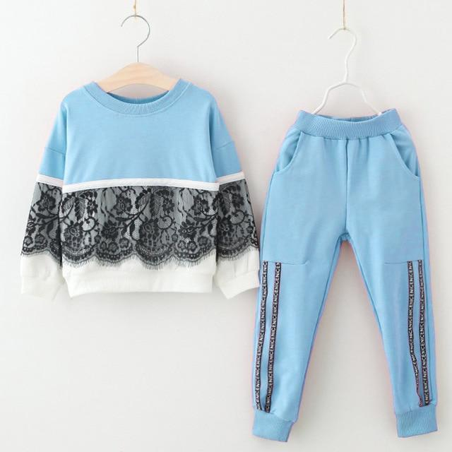 Girls Clothing Sets 2020 Autumn Spring Toddler Girls Clothes Outfit Kids Tracksuit For Girl Suit-Clothing Sets-LZH Official Store-Blue-3T-EpicWorldStore.com