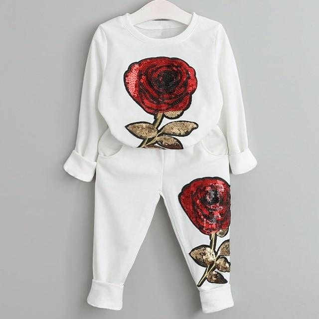 Girls Clothing Sets 2020 Autumn Spring Toddler Girls Clothes Outfit Kids Tracksuit For Girl Suit-Clothing Sets-LZH Official Store-White-3T-EpicWorldStore.com