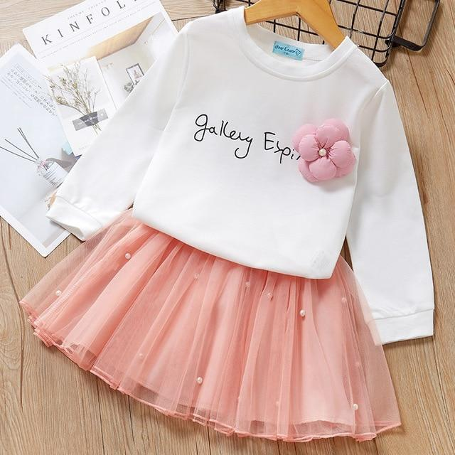 Melario Spring Girls Dresses Casual Baby Girls Clothes Kids Dresses For Girls Cotton Mesh Birthday-Dresses-Small lovely world-AB178Pink-2T-EpicWorldStore.com
