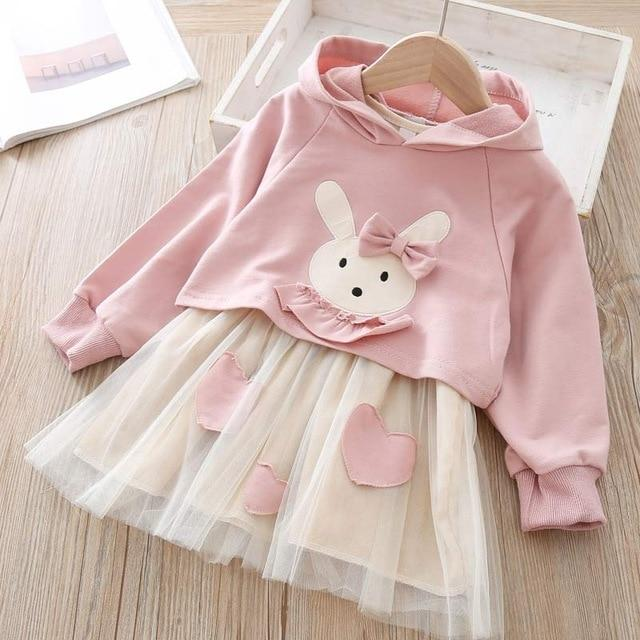 Melario Spring Girls Dresses Casual Baby Girls Clothes Kids Dresses For Girls Cotton Mesh Birthday-Dresses-Small lovely world-AZ2203Pink-2T-EpicWorldStore.com