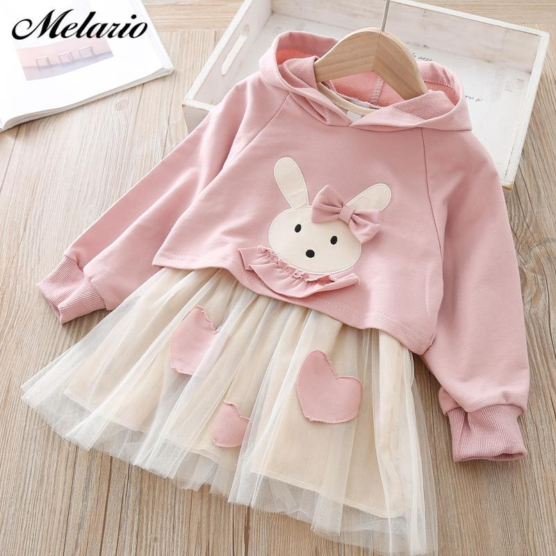 Melario Spring Girls Dresses Casual Baby Girls Clothes Kids Dresses For Girls Cotton Mesh Birthday-Dresses-Small lovely world-AZ2302Pink-2T-EpicWorldStore.com