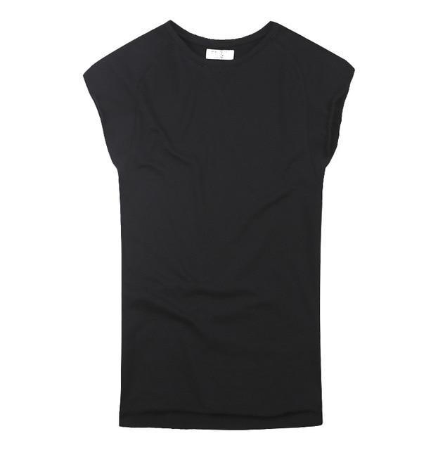 Mens Sleeveless Knitwear Sleeveless Undershirt Wide Shoulder Vest Bodybuilding Tank Top Men-Tank Tops-MIX MAN Store-black-S-EpicWorldStore.com