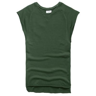 Mens Sleeveless Knitwear Sleeveless Undershirt Wide Shoulder Vest Bodybuilding Tank Top Men-Tank Tops-MIX MAN Store-dark green-S-EpicWorldStore.com
