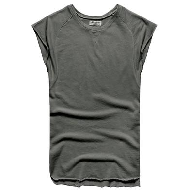 Mens Sleeveless Knitwear Sleeveless Undershirt Wide Shoulder Vest Bodybuilding Tank Top Men-Tank Tops-MIX MAN Store-dark grey-S-EpicWorldStore.com