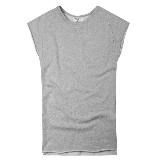 Mens Sleeveless Knitwear Sleeveless Undershirt Wide Shoulder Vest Bodybuilding Tank Top Men-Tank Tops-MIX MAN Store-flower grey-S-EpicWorldStore.com