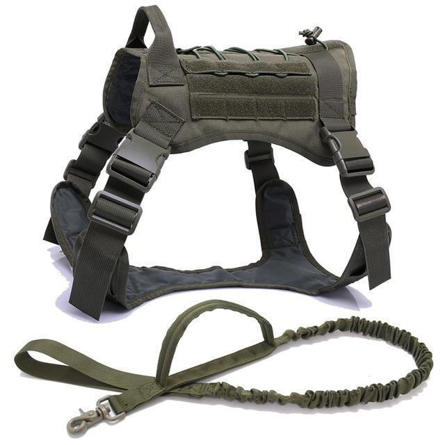 Military Tactical Dog Harness K9 Working Dog Vest Nylon Bungee Leash Lead Training Running For-Home-vailge Official Store-camouflage harness-M-EpicWorldStore.com