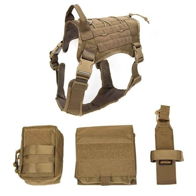 Military Tactical Dog Modular Harness With No Pull Front Clip Law Enforcement K9 Working Cannie-Leashes-Lovoyager official store-Soil suit-M-EpicWorldStore.com